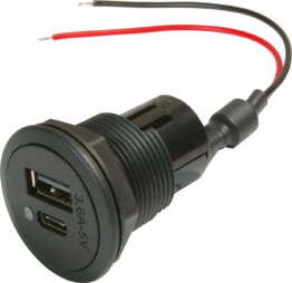 Power USB-C/A Doppelsteckdose EV 12-24V
