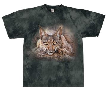 Harlequin T-Shirt Lynx Gaze slate