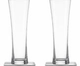 Silwy Magnet-Kristallgläser Bier mit Untersetzer 4 tlg.