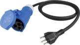 CEE-Adapterleitung SEV-Stecker (Schweiz) auf CEE-Kupplung 3-polig 1