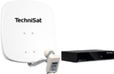 Technisat Set DigiDish 45 Sat-Antenne (Twin-LNB) mit Digit S3 HD SAT-Receiver polarweiß