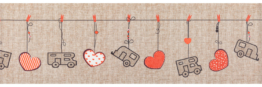 Arisol Teppich-Läufer Herzmotiv beige