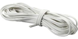 Flexible PVC-Zwillingsleitung Weiß 0