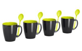 Gimex Henkelbecher Lime 4er Set