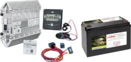Büttner Lithium-Batterie Power Set Ladebooster inkl. Lithium-Batterie und. Einbausatz 110 Ah